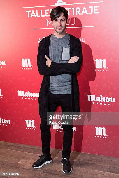 Actor Javier Rey attends Mahou campaign on February 10 2016 in Madrid Spain