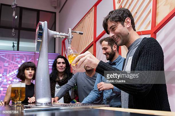 Actor Javier Rey attends the Mahou campaign on February 10 2016 in Madrid Spain