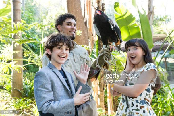 Actor Jax Malcolm Animal Handler Dmetri Domerick and Actress Chloe Noelle attend the 50th Anniversary Beastly Ball at the Los Angeles Zoo on May 20...