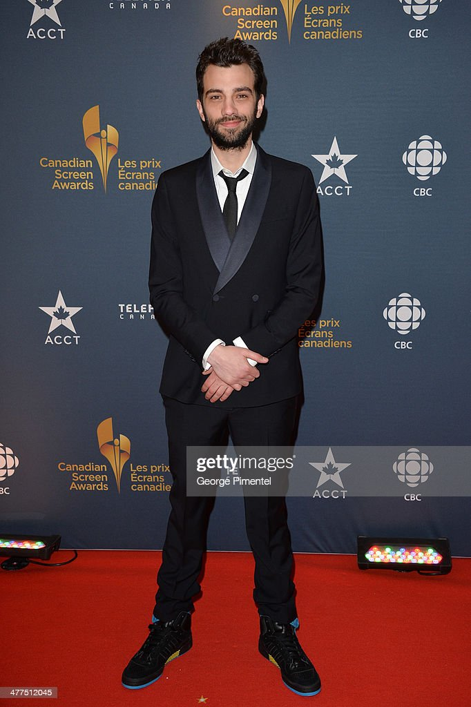 Actor <a gi-track='captionPersonalityLinkClicked' href=/galleries/search?phrase=Jay+Baruchel&family=editorial&specificpeople=662285 ng-click='$event.stopPropagation()'>Jay Baruchel</a> arrives at the Canadian Screen Awards at Sony Centre for the Performing Arts on March 9, 2014 in Toronto, Canada.