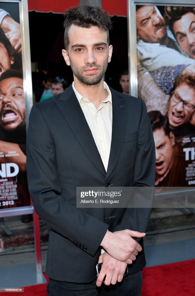 Actor <a gi-track='captionPersonalityLinkClicked' href=/galleries/search?phrase=Jay+Baruchel&family=editorial&specificpeople=662285 ng-click='$event.stopPropagation()'>Jay Baruchel</a> attends Columbia Pictures' 'This Is The End' premiere at Regency Village Theatre on June 3, 2013 in Westwood, California.