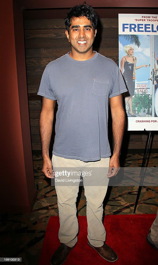 Actor Jay Chandrasekhar attends the premiere of Salient Media's 'Freeloaders' at Sundance Cinema on January 7, 2013 in Los Angeles, California.