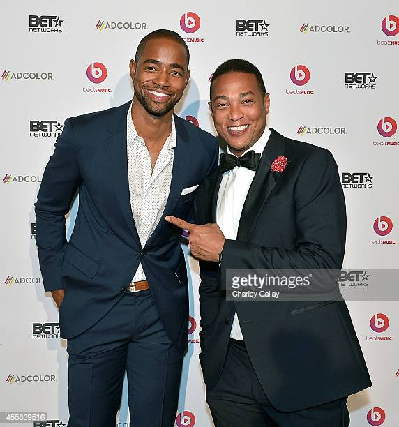 Actor Jay Ellis and Don Lemon host CNN attend the 2014 ADCOLOR Awards After Party Sponsored By BET Networks And Beats Music at The Beverly Hilton...