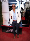 Actor Jay Ellis attends the BET AWARDS '14 at Nokia Theatre LA LIVE on June 29 2014 in Los Angeles California