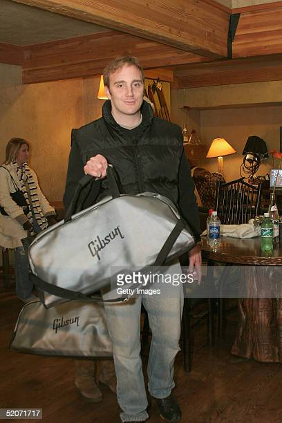 Actor Jay Mohr visits the Gibson display at the Gibson Gift Lounge during the 2005 Sundance Film Festival on January 26 2005 in Park City Utah