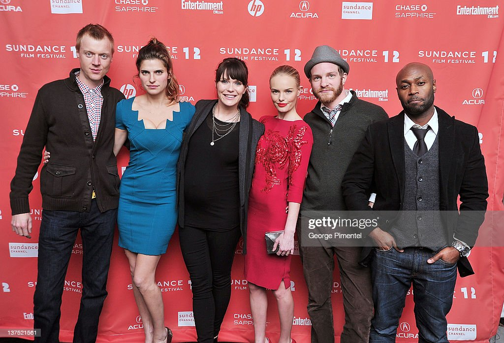 Actor Jay Paulson, actress <a gi-track='captionPersonalityLinkClicked' href=/galleries/search?phrase=Lake+Bell&family=editorial&specificpeople=209336 ng-click='$event.stopPropagation()'>Lake Bell</a>, director Katie Aselton, actress <a gi-track='captionPersonalityLinkClicked' href=/galleries/search?phrase=Kate+Bosworth&family=editorial&specificpeople=201616 ng-click='$event.stopPropagation()'>Kate Bosworth</a>, actor Will Bouvier and actor Anslem Richardson arrive at the 'Black Rock' Premiere during the 2012 Sundance Film Festival at Library Center Theater on January 21, 2012 in Park City, Utah.