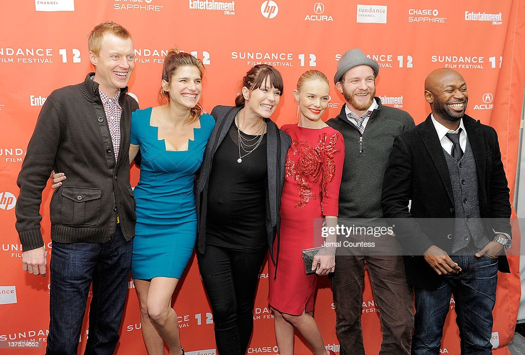 Actor Jay Paulson, actress <a gi-track='captionPersonalityLinkClicked' href=/galleries/search?phrase=Lake+Bell&family=editorial&specificpeople=209336 ng-click='$event.stopPropagation()'>Lake Bell</a>, director <a gi-track='captionPersonalityLinkClicked' href=/galleries/search?phrase=Katie+Aselton&family=editorial&specificpeople=6457083 ng-click='$event.stopPropagation()'>Katie Aselton</a>, actress <a gi-track='captionPersonalityLinkClicked' href=/galleries/search?phrase=Kate+Bosworth&family=editorial&specificpeople=201616 ng-click='$event.stopPropagation()'>Kate Bosworth</a>, actor Will Bouvier, and actor Anselm Richardson attend the 'Black Rock' premiere during the 2012 Sundance Film Festival held at Library Center Theater on January 21, 2012 in Park City, Utah.