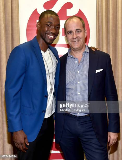 Actor Jay Pharoah of 'White Famous' and CEO of Showtime David Nevins at the Showtime portion of the 2017 Summer Television Critics Association Press...
