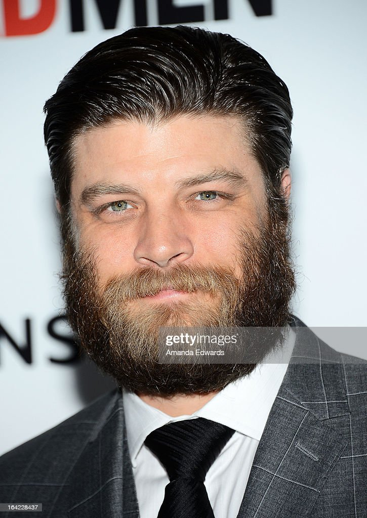 Actor <a gi-track='captionPersonalityLinkClicked' href=/galleries/search?phrase=Jay+R.+Ferguson&family=editorial&specificpeople=2303875 ng-click='$event.stopPropagation()'>Jay R. Ferguson</a> arrives at AMC's 'Mad Men' Season 6 Premiere at the DGA Theater on March 20, 2013 in Los Angeles, California.
