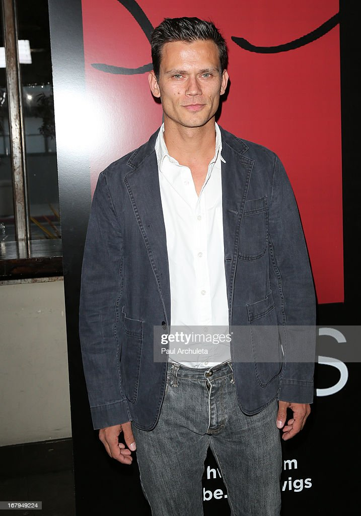 Actor Jay Rodan attends the one year anniversary celebration for the WIGS digital channel at Akasha Restaurant on May 2, 2013 in Culver City, California.