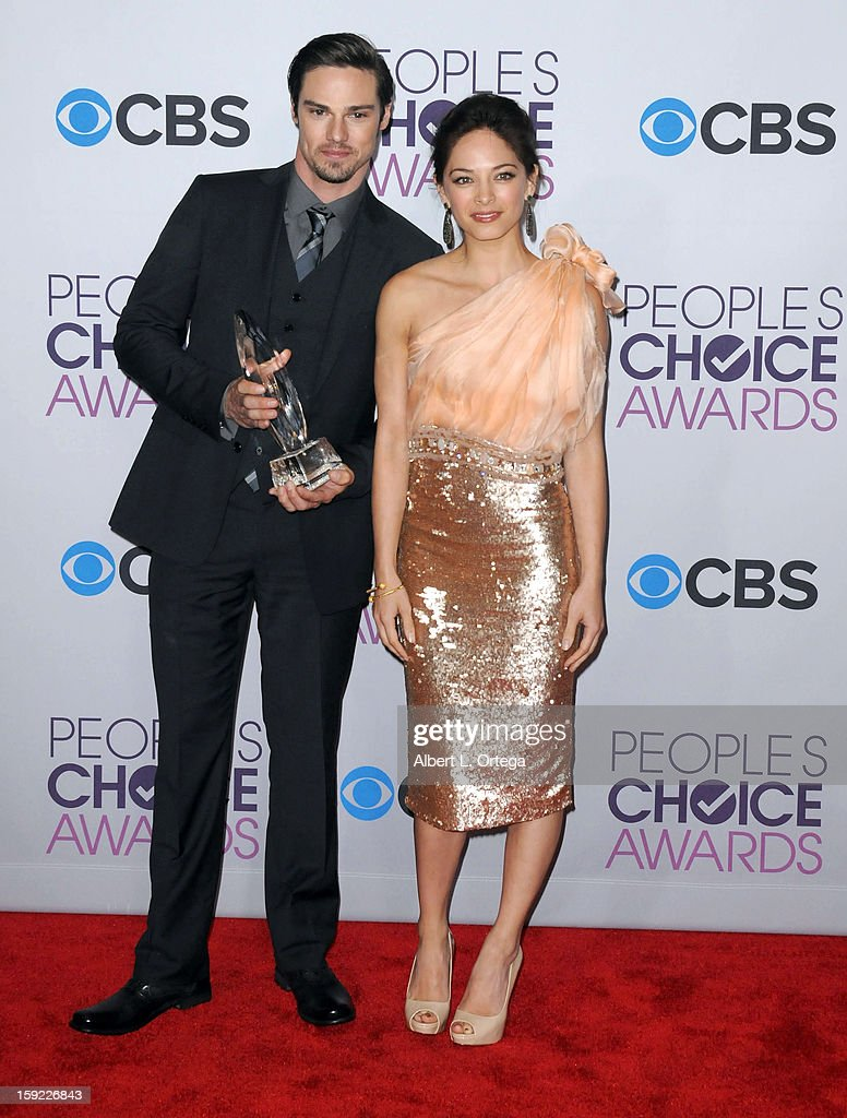 Actor Jay Ryan and actress Kristen Kreuk participate at the 39th Annual People's Choice Awards - Press Room held at Nokia Theater L.A. Live on January 9, 2013 in Los Angeles, California.