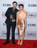 Actor Jay Ryan and actress Kristen Kreuk participate at the 39th Annual People's Choice Awards Press Room held at Nokia Theater LA Live on January 9...