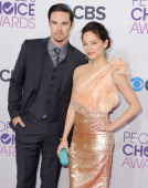Actor Jay Ryan and actress Kristin Kreuk arrive at the 2013 People's Choice Awards at Nokia Theatre LA Live on January 9 2013 in Los Angeles...