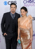 Actor Jay Ryan and actress Kristin Kreuk arrive for the 34th Annual People's Choice Awards Arrivals held at Nokia Theater at LA Live on January 9...