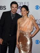 Actor Jay Ryan and actress Kristin Kreuk participate at the 39th Annual People's Choice Awards Press Room held at Nokia Theater LA Live on January 9...