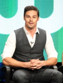 Actor Jay Ryan speaks at the 'Beauty And The Beast' discussion panel during the CW portion of the 2012 Summer Television Critics Association tour at...