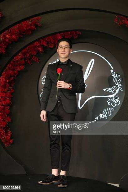 Actor Jaycee Chan arrives at the red carpet of the banquet held by Macau businessman Levo Chan and actress Ady An on June 23 2017 in Taipei Taiwan of...