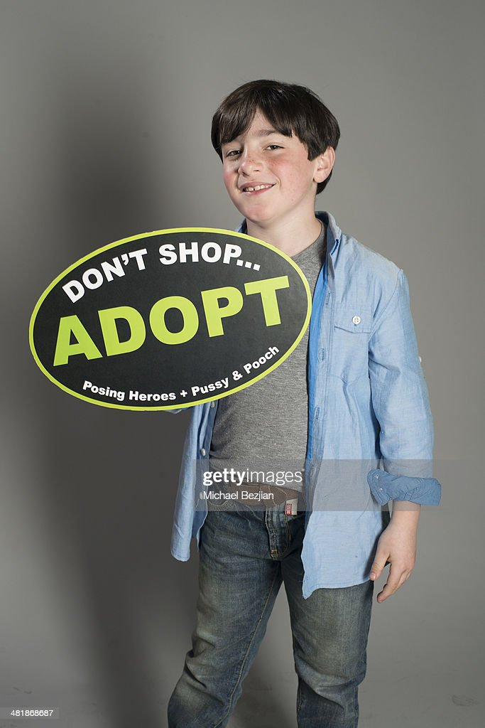 Actor Jayden Maddux poses for a portrait at Portraits For Pooches - Portraits on March 30, 2014 in Beverly Hills, California.