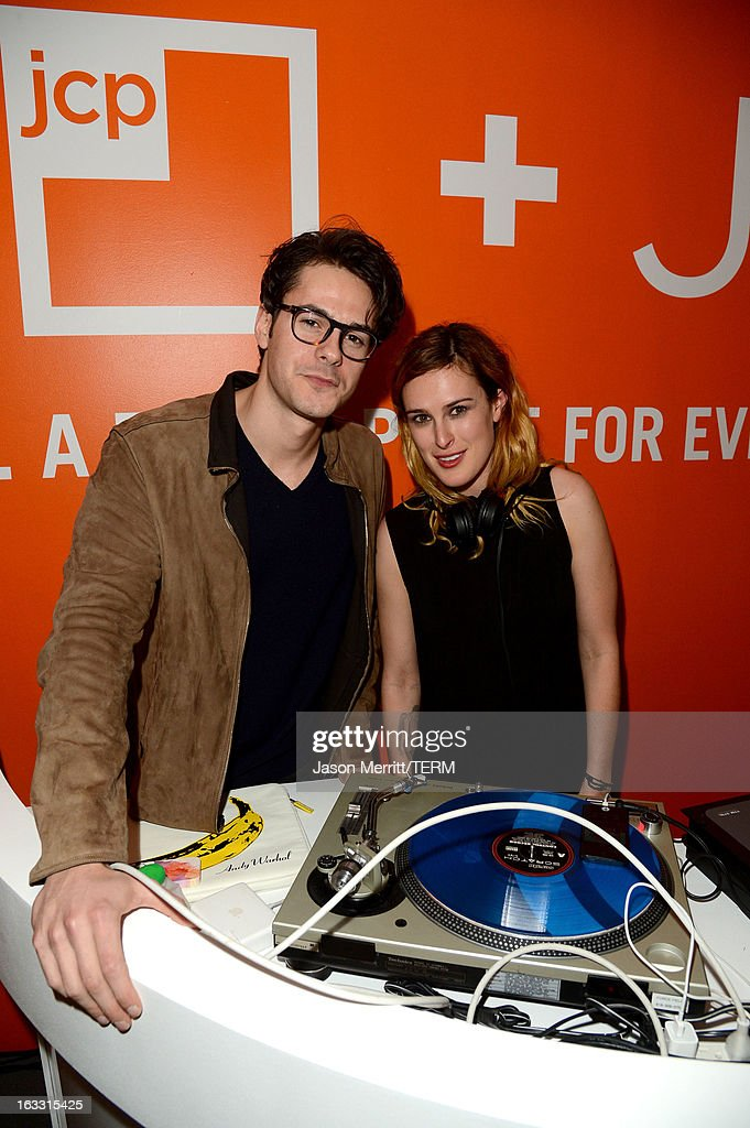 Actor Jayson Blair and <a gi-track='captionPersonalityLinkClicked' href=/galleries/search?phrase=Rumer+Willis&family=editorial&specificpeople=617003 ng-click='$event.stopPropagation()'>Rumer Willis</a> (aka DJ Ruby) attend Joe Fresh at jcp launch event on March 7, 2013 in Beverly Hills, California.