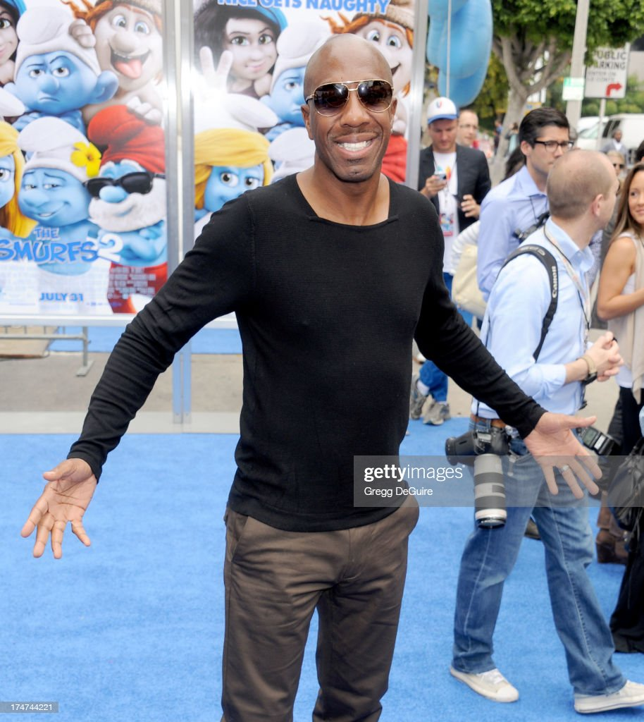Actor J.B. Smoove arrives at the Los Angeles premiere of 'Smurfs 2' at Regency Village Theatre on July 28, 2013 in Westwood, California.