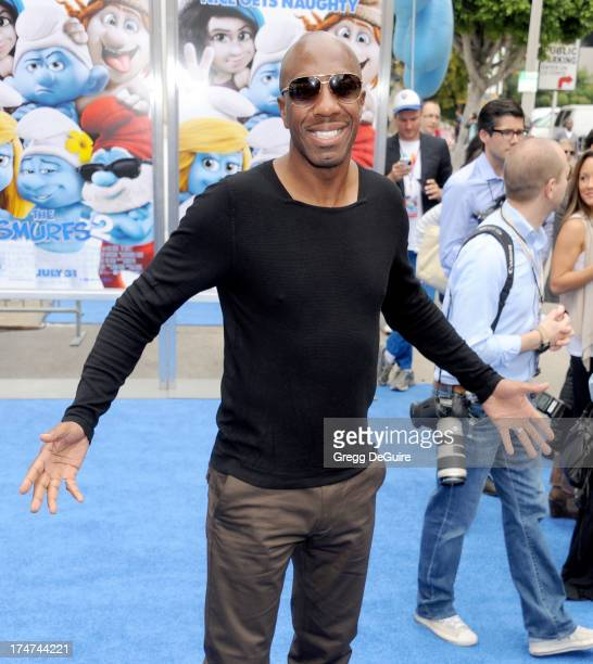 Actor JB Smoove arrives at the Los Angeles premiere of 'Smurfs 2' at Regency Village Theatre on July 28 2013 in Westwood California