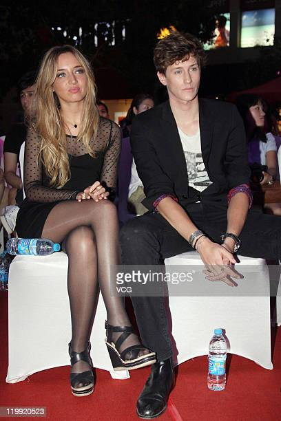 Actor Jean Baptiste Maunier and actress Clemence Saint Preux attend 'Perfect Baby' press conference at Solana on July 26 2011 in Beijing China