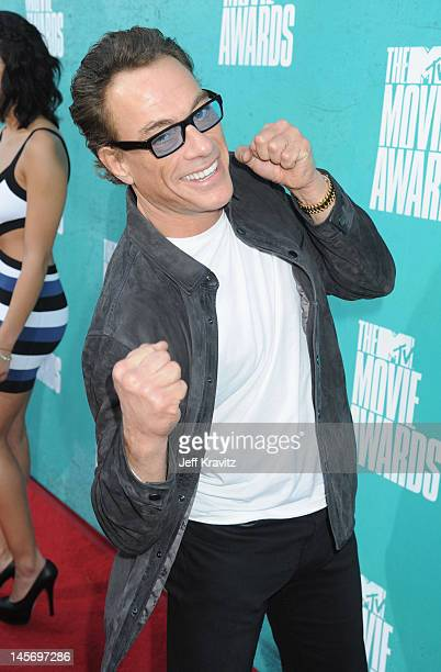 Actor Jean Claude van Damme arrives at the 2012 MTV Movie Awards held at Gibson Amphitheatre on June 3 2012 in Universal City California