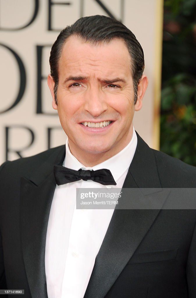 Actor <a gi-track='captionPersonalityLinkClicked' href=/galleries/search?phrase=Jean+Dujardin&family=editorial&specificpeople=620972 ng-click='$event.stopPropagation()'>Jean Dujardin</a> arrives at the 69th Annual Golden Globe Awards held at the Beverly Hilton Hotel on January 15, 2012 in Beverly Hills, California.