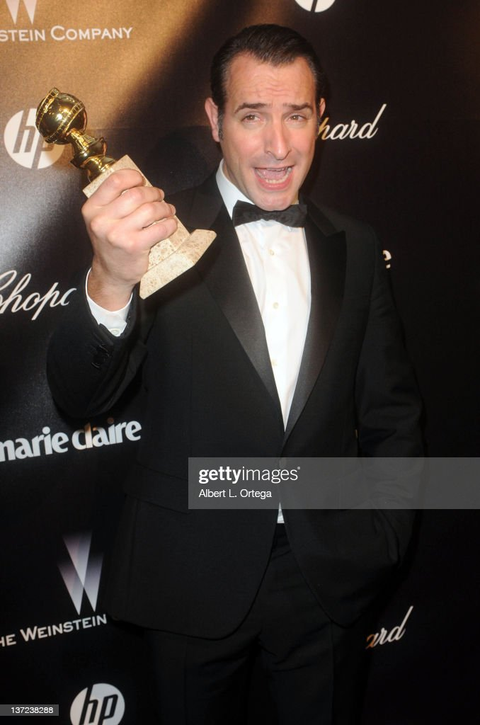 Actor <a gi-track='captionPersonalityLinkClicked' href=/galleries/search?phrase=Jean+Dujardin&family=editorial&specificpeople=620972 ng-click='$event.stopPropagation()'>Jean Dujardin</a> arrives for The Weinstein Company's 2012 Golden Globe Awards After Party held at Club 210 on January 15, 2012 in Beverly Hills, California.