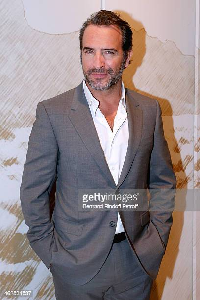 Actor Jean Dujardin at the Chaumet's Cocktail Party for Cesar's Revelations 2014 at Musee Chaumet followed by a dinner at Hotel Meurice on January 13...