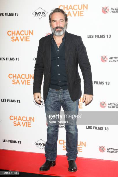 Actor Jean Dujardin attends the 'Chacun sa vie' Premiere at Cinema UGC Normandie on March 13 2017 in Paris France