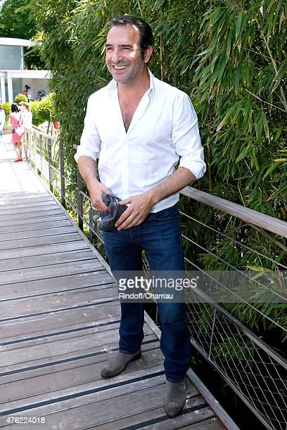 Actor Jean Dujardin attends the Men Final of 2015 Roland Garros French Tennis Open Day Fithteen on June 7 2015 in Paris France