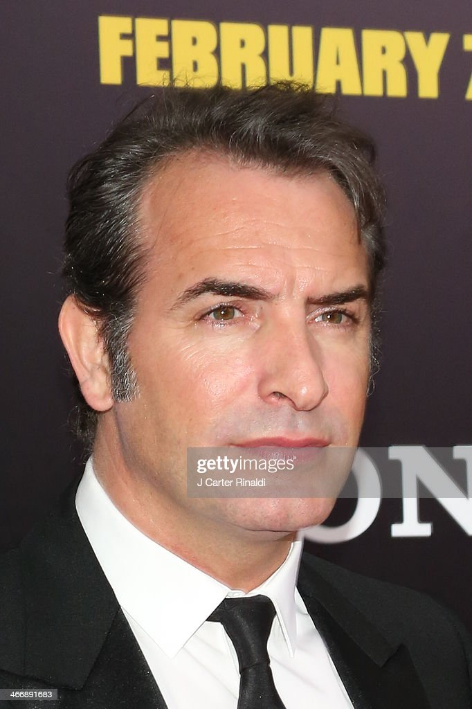 Actor Jean Dujardin attends 'The Monuments Men' premiere at Ziegfeld Theater on February 4 2014 in New York City