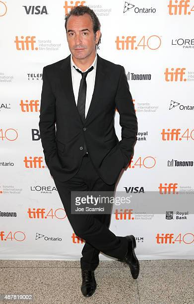 Actor Jean Dujardin attends the 'Un Plus Une' photo call during the 2015 Toronto International Film Festival at Winter Garden Theatre on September 11...