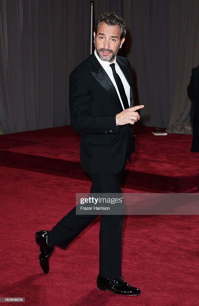 Actor Jean Dujardin departs the Oscars at Hollywood & Highland Center on February 24, 2013 in Hollywood, California.