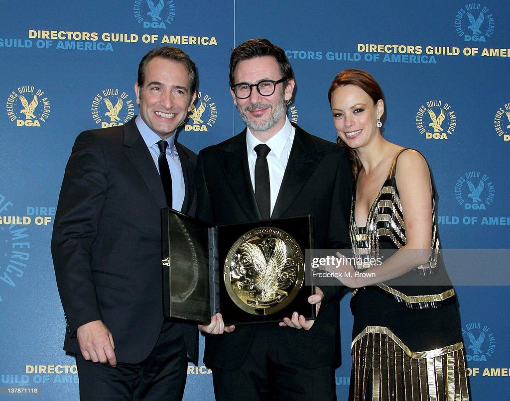 Actor Jean Dujardin director Michel Hazanavicius winner of the Outstanding Directorial Achievement in Feature Film for 2011 award for 'The Artist'...