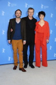 Actor Jean Luc Vincen director Bruno Dumont and actress Juliette Binoche attend the 'Camille Claudel 1915' Photocall during the 63rd Berlinale...
