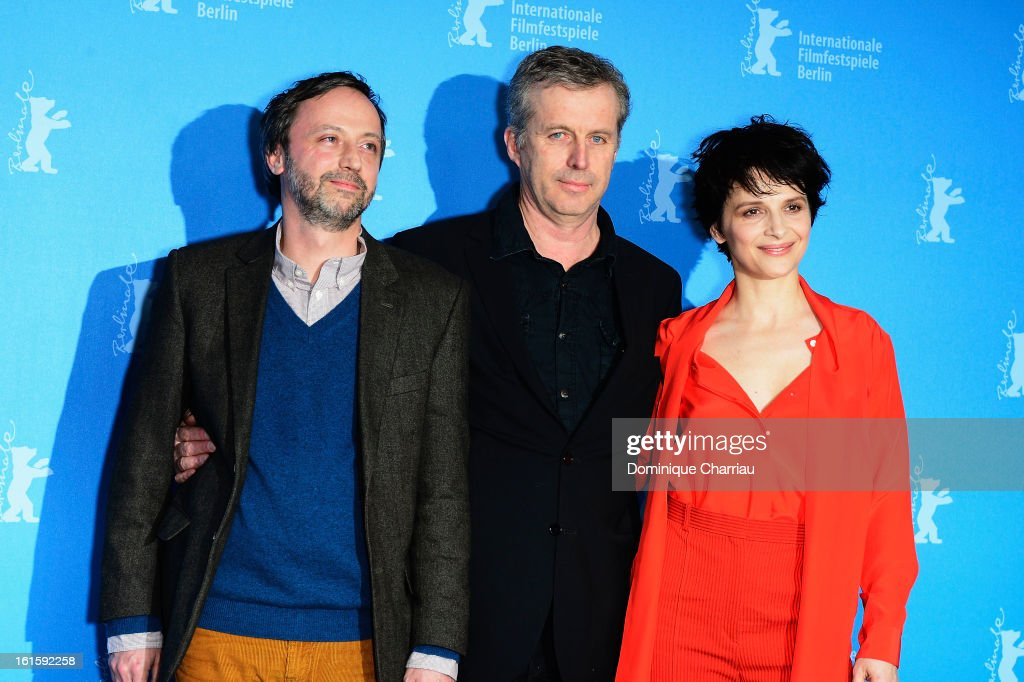 Actor Jean Luc Vincen, director <a gi-track='captionPersonalityLinkClicked' href=/galleries/search?phrase=Bruno+Dumont&family=editorial&specificpeople=607004 ng-click='$event.stopPropagation()'>Bruno Dumont</a> and actress <a gi-track='captionPersonalityLinkClicked' href=/galleries/search?phrase=Juliette+Binoche&family=editorial&specificpeople=209273 ng-click='$event.stopPropagation()'>Juliette Binoche</a> attend the 'Camille Claudel 1915' Photocall during the 63rd Berlinale International Film Festival at the Grand Hyatt Hotel on February 12, 2013 in Berlin, Germany.