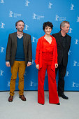 Actor Jean Luc Vincent actress Juliette Binoche and director Bruno Dumont attend the 'Camille Claudel 1915' Photocall during the 63rd Berlinale...
