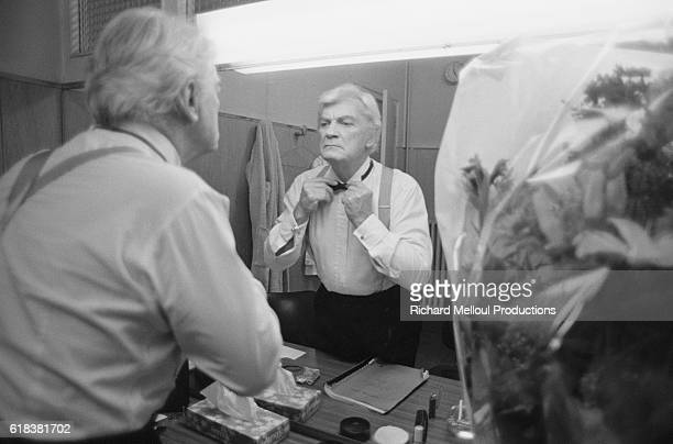 Actor Jean Marais prepares himself for a production of Dear Liar in Lyons France The play presented under the title of Cher Menteur was written by...