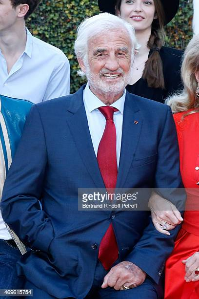 Actor Jean Paul Belmondo attends Museum Paul Belmondo celebrates its 5th Anniversary on April 13 2015 in BoulogneBillancourt France