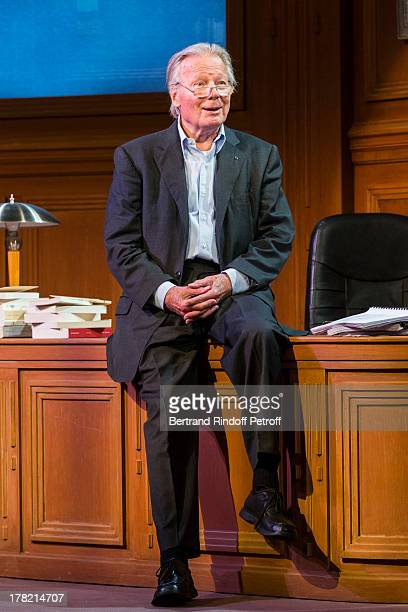 Actor Jean Piat performs at during the rehearsal of the play 'Ensemble et Separement' by Francoise Dorin on August 27 2013 in Paris France The play...