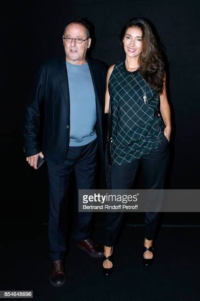 Actor Jean Reno and his wife Zofia attend the Lanvin show as part of the Paris Fashion Week Womenswear Spring/Summer 2018 on September 27 2017 in...