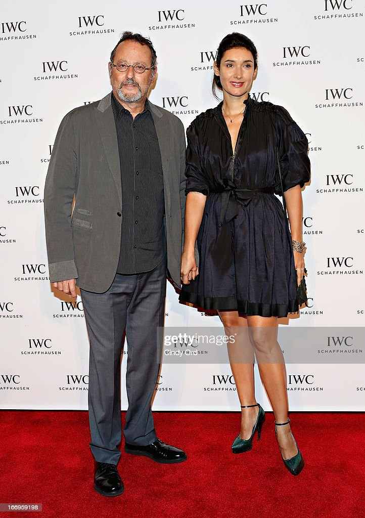 Actor <a gi-track='captionPersonalityLinkClicked' href=/galleries/search?phrase=Jean+Reno&family=editorial&specificpeople=213522 ng-click='$event.stopPropagation()'>Jean Reno</a> (L) attends the IWC and Tribeca Film Festival 'For the Love of Cinema' celebration at Urban Zen on April 18, 2013 in New York City.