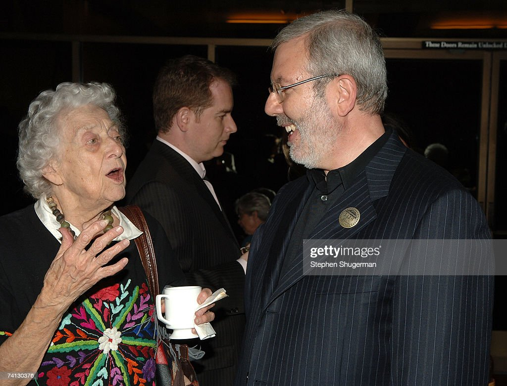 Actor Jean Rouverol Butler and film critic Leonard Maltin attend a celebration of comedic icon W. C. Fields at the Academy of Motion Picture Arts and Sciences on May 11, 2007 in Beverly Hills, California.