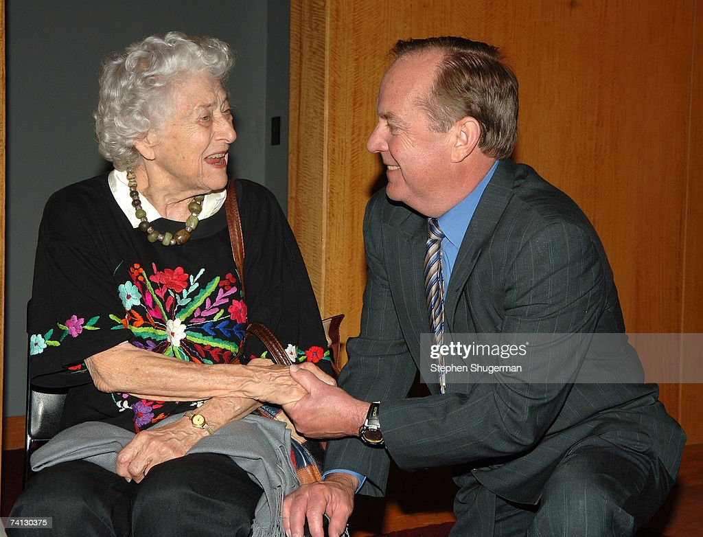 Actor Jean Rouverol Butler and the grandchild of W.C. Fields Ronald Fields attend a celebration of comedic icon W. C. Fields at the Academy of Motion Picture Arts and Sciences on May 11, 2007 in Beverly Hills, California.