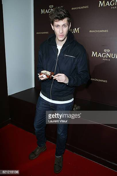 Actor JeanBaptiste Maunier attends the Magnum Paris Concept Store Opening on April 14 2016 in Paris France