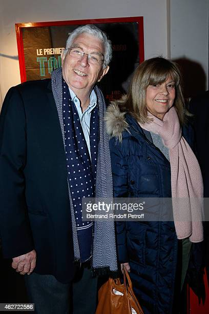 Actor JeanClaude Bouillon and Singer Chantal Goya attend the Private Screening of the Movie 'Tout Peut Arriver' at Mac Mahon Cinema on February 3...
