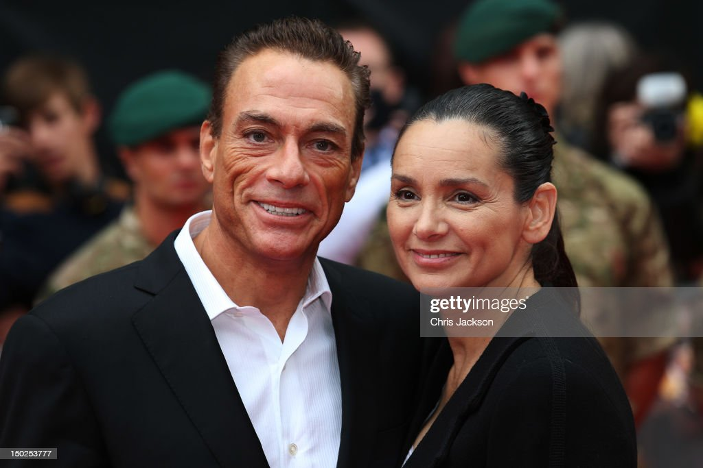 Actor <a gi-track='captionPersonalityLinkClicked' href=/galleries/search?phrase=Jean-Claude+Van+Damme&family=editorial&specificpeople=566465 ng-click='$event.stopPropagation()'>Jean-Claude Van Damme</a> (L) and <a gi-track='captionPersonalityLinkClicked' href=/galleries/search?phrase=Gladys+Portugues&family=editorial&specificpeople=3205735 ng-click='$event.stopPropagation()'>Gladys Portugues</a> attend 'The Expendables 2' UK film premiere at Empire Leicester Square on August 13, 2012 in London, England.