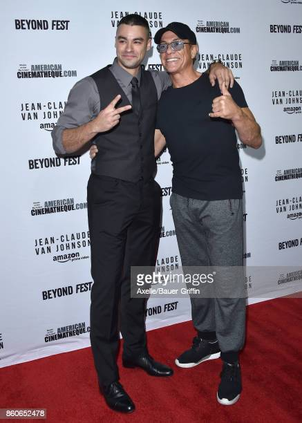Actor JeanClaude Van Damme and son Kristopher Van Varenberg arrive at the Beyond Fest screening of Amazon's 'JeanClaude Van Johnson' at The Egyptian...